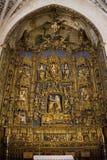 Alto altare - cattedrale di Burgos - la Spagna Fotografie Stock