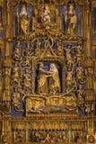 Alto altare - cattedrale di Burgos - la Spagna Fotografia Stock Libera da Diritti