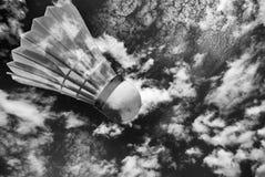 Alto ascendente del bádminton abstracto Fotografía de archivo libre de regalías