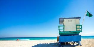 Alto asiento Miami de Beachguard Imagen de archivo libre de regalías