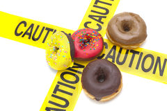 Alto avvertimento dietetico di caloria Immagine Stock Libera da Diritti