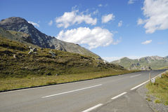Alto camino alpestre de Grossglockner foto de archivo libre de regalías