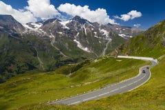 Alto camino alpestre de Grossglockner austria europa fotografía de archivo libre de regalías
