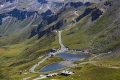 Alto camino alpestre de Grossglockner austria europa foto de archivo libre de regalías