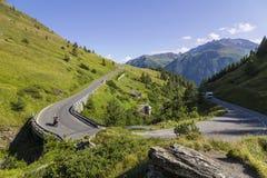 Alto camino alpestre de Grossglockner austria europa imagen de archivo