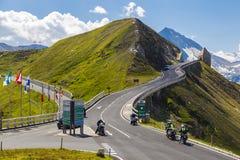 Alto camino alpestre de Grossglockner austria europa fotos de archivo libres de regalías