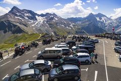 Alto camino alpestre de Grossglockner Punto de visión austria europa imágenes de archivo libres de regalías