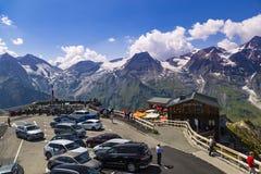 Alto camino alpestre de Grossglockner Punto de visión austria europa fotografía de archivo libre de regalías