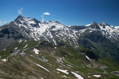 Alto camino alpino de Grossglockner, Austria Imagen de archivo