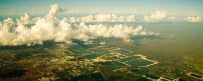 Vista aérea de la ciudad de Miami Foto de archivo libre de regalías