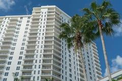 Alto condominio di aumento di Miami Beach Fotografia Stock Libera da Diritti