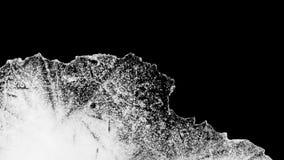 Alto contrasto di fusione del ghiaccio di lasso di tempo video d archivio