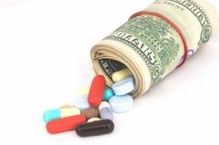 Alto coste de cuidado médico Fotos de archivo libres de regalías
