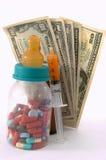 Alto coste de las cuentas médicas para los niños Fotografía de archivo
