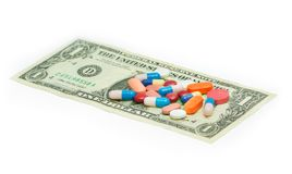 Alto coste de los costes de atención sanitaria fotos de archivo libres de regalías