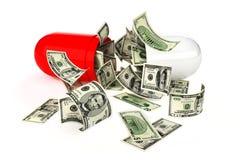Alto coste de medicaciones de la prescripción Imagen de archivo