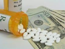 Alto coste de medicamentos de venta con receta Imagenes de archivo
