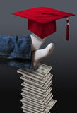 Alto coste del concepto de la educación Fotografía de archivo libre de regalías