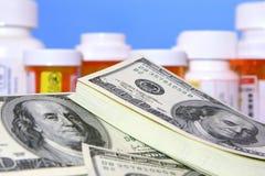 Alto costo dei meds di prescrizione Fotografia Stock Libera da Diritti