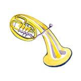 Alto de cobre da banda filarmônica da aquarela Imagem de Stock Royalty Free