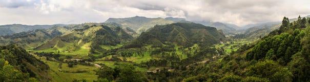 Alto de la Cruz Viewpoint Salento, Eje Cafetero, Colombia Arkivbilder