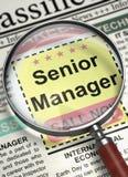 Alto diretivo Job Vacancy 3d Foto de Stock Royalty Free