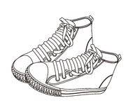 Alto drenaje de la mano del zapato Imágenes de archivo libres de regalías
