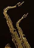 Alto e saxofone 2 do conteúdo Imagem de Stock