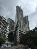 Alto edificio de la subida en Hong Kong foto de archivo libre de regalías