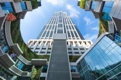 Alto edificio de la subida en Shangai, China imágenes de archivo libres de regalías