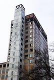 Alto edificio inacabado Imágenes de archivo libres de regalías