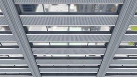 Alto edificio per uffici astratto di aumento con le finestre dello specchio video d archivio