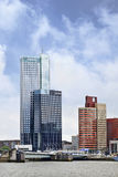 Alto edificio per uffici moderno di aumento, Rotterdam, Olanda. Fotografia Stock Libera da Diritti