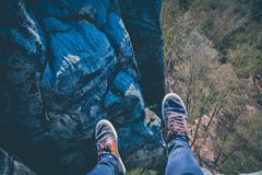 alto en la roca fotos de archivo libres de regalías