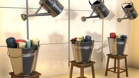 Alto escaparate rendido 3d de la ventana de la tienda de la moda del res libre illustration