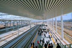 Alto ferrocarril de Longmen, Luoyang fotografía de archivo libre de regalías
