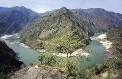 Alto fiume di ganges della valle Immagine Stock