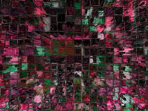 Alto fondo del bloque hueco de la subida de Digitaces Fotos de archivo libres de regalías