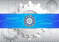 Alto fondo del negocio de la informática del circuito futurista abstracto Foto de archivo