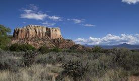 Alto giorno sudoccidentale del paesaggio del deserto Fotografie Stock