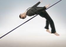 Alto hombre de negocios de salto Imágenes de archivo libres de regalías