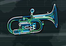 Alto horn card Stock Images