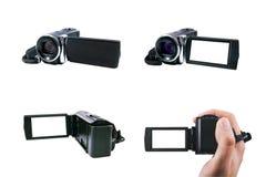 Alto insieme della videocamera portatile di definizione Immagini Stock Libere da Diritti