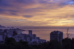 Alto Leblon sunrise Stock Image