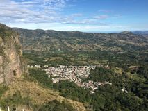 Alto Lucero, Veracruz, Mexico. Beautiful view with blue sky and mountains in a sunny day at Alto Lucero, Veracruz, Mexico royalty free stock images