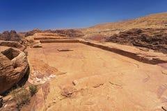 Alto lugar del Petra del sacrificio Fotos de archivo libres de regalías