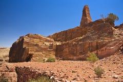 Alto lugar del Petra del sacrificio Foto de archivo