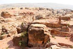 Alto lugar del sacrificio en el Petra Imagenes de archivo