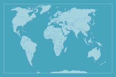 Alto mapa del mundo del detalle stock de ilustración