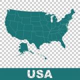 Alto mapa detallado del vector - Estados Unidos Los E.E.U.U. vector el plano libre illustration